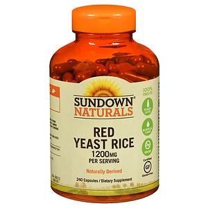 Sundown Naturals Red Yeast Rice, 1200mg, Capsules- 240 ea