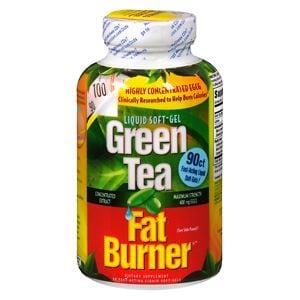 Applied Nutrition Green Tea Fat Burner, Liquid Soft-Gels- 90 ea