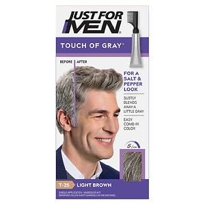 Just For Men Touch of Gray Hair Treatment, Light Brown - Gray T-25