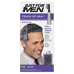 Just For Men Touch of Gray Haircolor, Black T-55- 1 ea