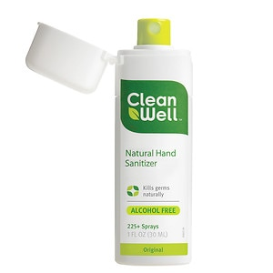 Cleanwell Natural Hand Sanitizer Spray, 1 fl oz
