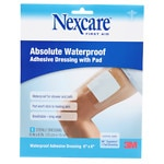 Nexcare Absolute Waterproof Adhesive Dressing wtih Pad, 6 in x 6 in
