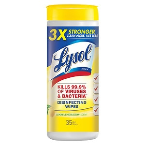 Lysol Disinfecting Wipes, Lemon & Lime Blossom - 35 Count