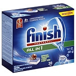 Finish Powerball Tabs Dishwasher Detergent, Fresh- 20 ea