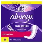 Always Xtra Protection Daily Liners, Extra Long, Unscented, 2pk- 68 ea
