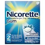 Nicorette Nicotine Gum, 2mg, White Ice Mint