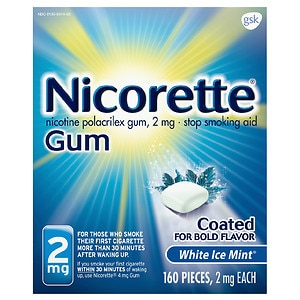 Nicorette White Ice Mint Gum 2mg 160ct