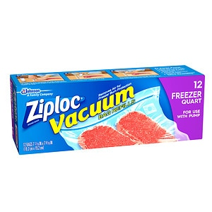 Ziploc Vacuum Bags, Quart