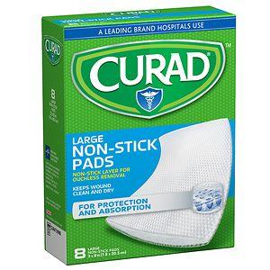 Curad Non Stick Pads, 3 in x 4 in- 20 ea