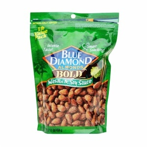 Blue Diamond Bold Almonds, Wasabi & Soy Sauce- 16 oz