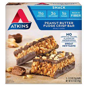 Atkins Day Break Snack Bars, 5, Peanut Butter Fudge, 5 ea