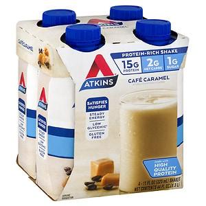 Atkins Advantage Shakes, 4 pk, Cafe Caramel- 11 oz