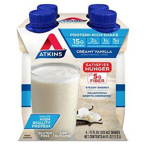 Atkins Advantage Shakes, 4 pk, French Vanilla- 11 oz