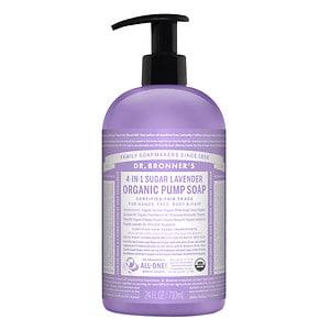 Dr. Bronner's 4-IN-1 Sugar Baby Organic Pump Soap, Lavender- 24 fl oz