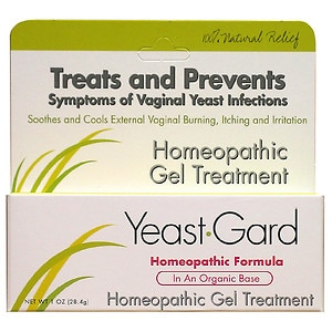 Yeastgard homeopathic gel treatment with probiotics for Exterior yeast infection