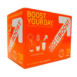 EBOOST Daily Health Booster Effervescent Powder Packets, Orange
