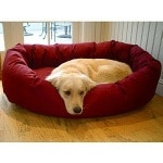 Majestic Pet Products Bagel Bed, Small, 24 inch, Burgundy- 1 ea