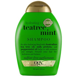 Organix Shampoo, Hydrating Teatree Mint