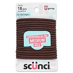 Scunci No Damage Elastics, Large, Brown
