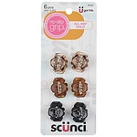 Scunci No-Slip Grip Mini Octo Jaw Clips