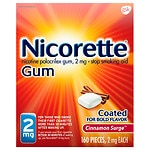Nicorette Stop Smoking Aid Cinnamon Surge 2mg 160ct