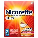 Nicorette Nicotine Gum, 2 mg, Cinnamon Surge- 160 ea