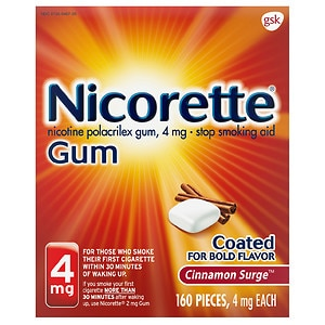 Nicorette Stop Smoking Aid, Cinnamon Surge 4mg 160ct