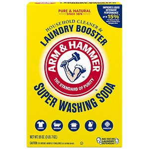 Arm & Hammer Super Wash Soda, Detergent Booster- 55 oz