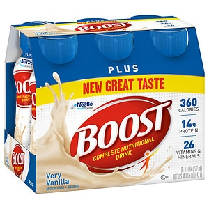 Boost Plus Complete Nutritional Drink, Bottles, Very Vanilla- 8 oz