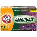Arm & Hammer Essentials Fabric Softener Sheets, Lavender &