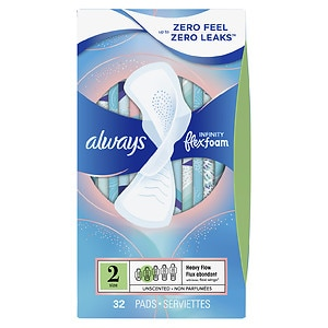 Always Infinity Heavy Flow Pads with Flexi-Wings- 32 ea