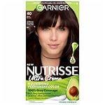 Garnier Nutrisse Level 3 Permanent Creme Haircolor, Dark Brown 40 (Dark Chocolate)- 1 ea