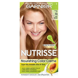Garnier Nutrisse Permanent Haircolor, Dark Golden Blonde 73 (Honey Dip)