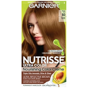 Garnier Nutrisse Ultra Color Permanent Haircolor, B3 Golden Brown (Cafe Con Leche)