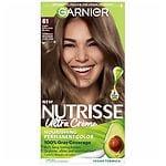 Garnier Nutrisse Level 3 Permanent Creme Haircolor, Light Ash Brown 61 (Mochaccino)- 1 ea