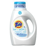 Tide HE Liquid Laundry Detergent 32 loads, Free & Gentle- 50 oz