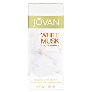 Jovan Cologne Concentrate Spray, White Musk for Women, 2 fl oz