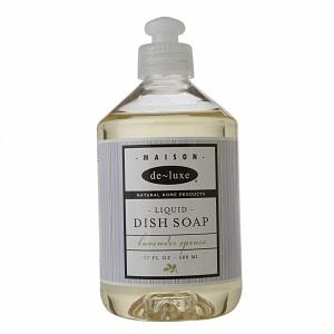 de-luxe MAISON Liquid Dish Soap, Lavender Spruce- 17 fl oz
