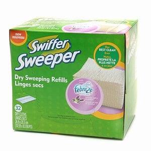 Swiffer Sweeper Dry Sweeping Cloths, Febreze, Lavender & Vanilla Comfort- 32 ea