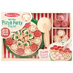 Melissa and Doug Wooden Pizza Party Play Food Set, Ages 3+