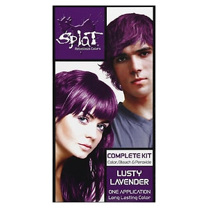 Splat Hair Color Complete Kit, Lusty Lavender, 1 application