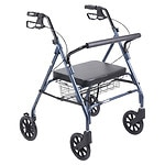 Drive Medical Go-Lite Bariatric Steel Rollator, Blue