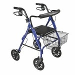 Drive Medical D-Lite Aluminum Rollator, Blue