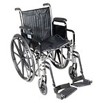 Drive Medical Silver Sport 2 Wheelchair with Detachable Desk Arms