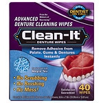 Dentist On Call Clean-It Advanced Denture Cleaning Wipes- 40 ea
