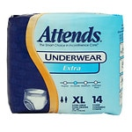 Attends Underwear Extra Absorbency, AP0740, X-Large- 56 ea