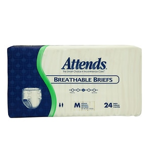 Attends Breathable Briefs, BRB20, Medium