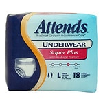 Attends Underwear Super Plus with Leakage Barriers Large 44-58in, 170-210lb
