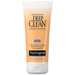 Neutrogena Deep Clean Cream Cleanser, Oil Free, 7 oz