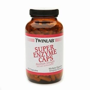 Twinlab Super Enzyme Caps- 200 ea